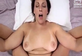 Thick-ass bitch drilled in POV