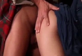 Daddy in a skirt fucks his little girl
