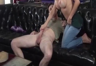 Mommy happily seducing her sexy son