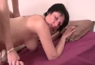 He buries that cock deep inside of her