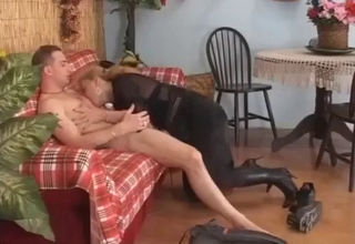 Blonde wants her son's meaty cock