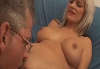 Blonde gets her tight cunt ruined