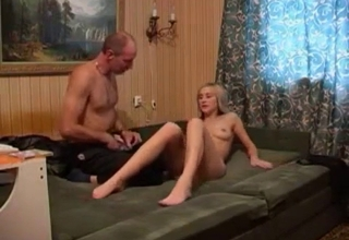 Hardcore fucking with a blond-haired babe