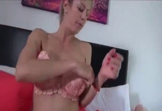 Blond-haired mom blows in POV