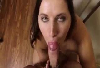 She sucks that cock like a vacuum cleaner
