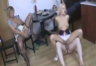 Screaming as she gets gaped on cam