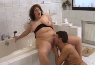 Mom/son incest in the bathroom