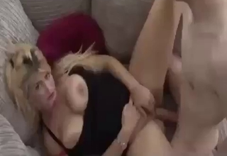 Thick-ass blonde fucking her son