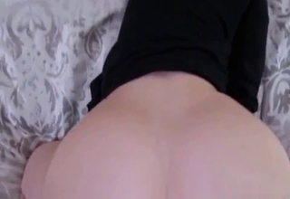 Big booty hottie takes father's cock