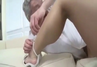 Busty blonde fucked by her father