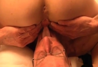 Busty bitch drilled upside down