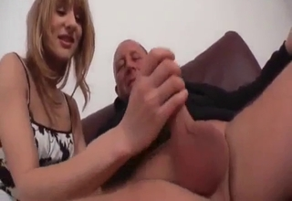 Blonde cannot stop sucking it