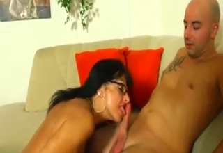 Mommy blows her mature brother