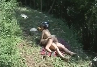 Outdoors incest with a facial at the end