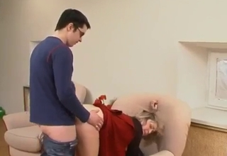 Mommy mounts her son's big dick