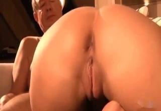 Brunette worships his balls on cam