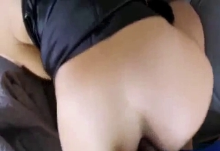 Brunette jerks her bro's big dick