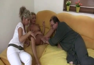 Fantastic incest action with his women