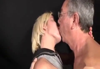 Young beauty fucking her gross father
