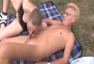 Mature German siblings fucking outdoors
