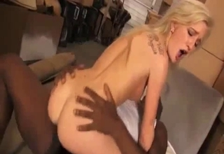Black stepdaddy fucks his kinky daughter