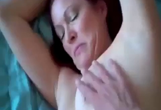 Extreme doggy style on a big bed