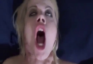 Nasty mommy sucking it like crazy