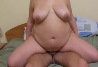 Fat mommy riding that big dick here