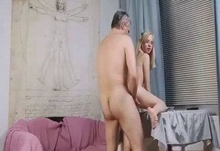 Blonde with big tits enjoying raw sex