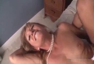 Stockings-clad bitch sure loves it