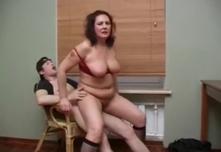 Dude fucks his fat mother into submission