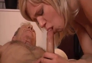 Blond-haired chick enjoying passionate incest