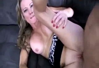 Blond-haired mommy about to blow