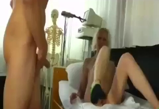Blonde is ready for daddy's boner