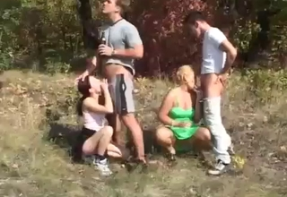 Outdoors incest fuck-fest, enjoy