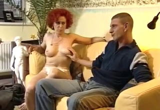 Curly redhead mommy molested here