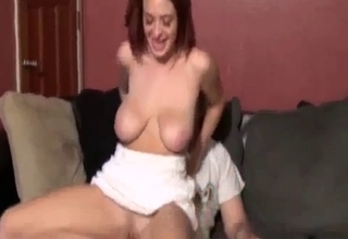 Jumping on her father's fantastic cock