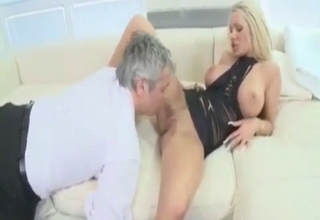 Blonde with big tits obliterated by papa