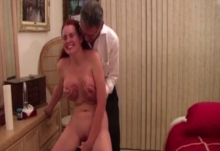 Mature sister rides a Sybian on cam