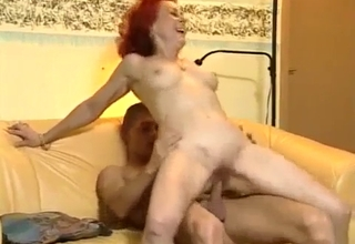 Redhead jumping on that thick dick