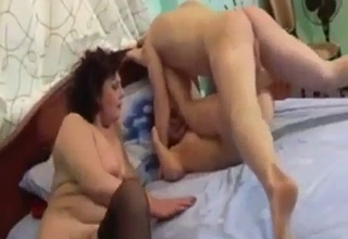 Stockings-clad MILF getting it real good
